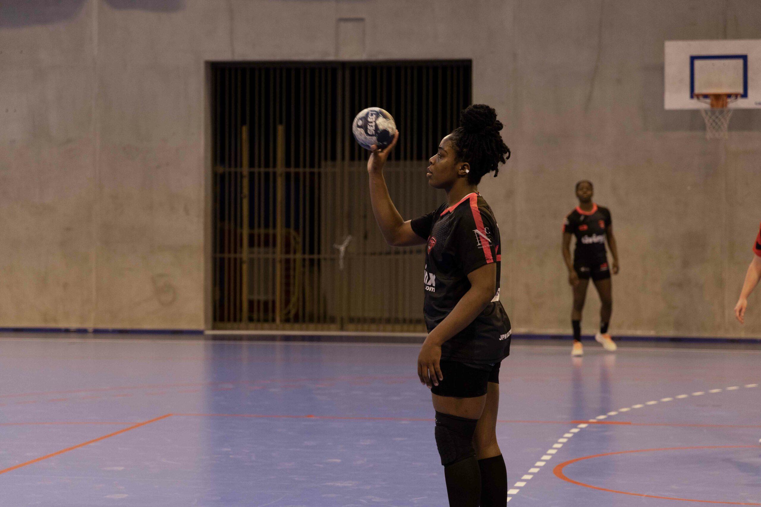 Isaure Mosabau en plein match