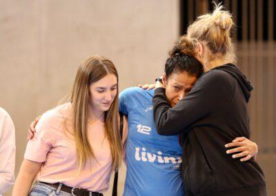 Jackie Oliveira Santana pleine d'émotion avant son départ du Noisy-le-Grand Handball