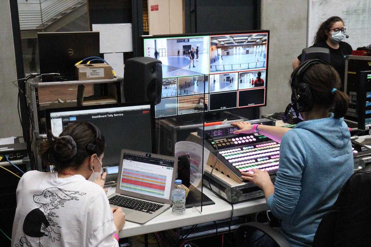 La régie du BTS Audiovisuel pendant la retransmission de Noisy-Aunis