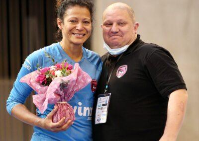 Une photo pleine d'émotions entre Jackie Oliveira Santana et Jean-Christophe Naal